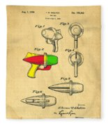 Toy Ray Gun Patent II Fleece Blanket