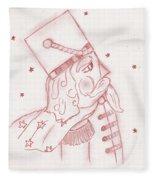 Toy Soldier Nutcracker In Red Fleece Blanket
