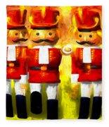 Toy Soldiers Nutcracker Fleece Blanket