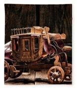 Toy Stagecoach Fleece Blanket