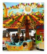 Toy Town Carousel  Fleece Blanket