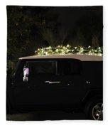 Toyota Fj Christmas Lights Fleece Blanket
