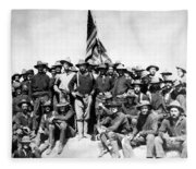 Tr And The Rough Riders Fleece Blanket