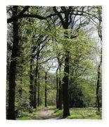 Track Trough The Woods Fleece Blanket