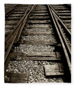 Tracks Into Tracks - 2 Fleece Blanket
