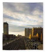 Tracks Philadelphia Fleece Blanket