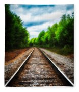 Tracks Through The Woods Fleece Blanket