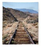 Tracks To Nowhere Fleece Blanket