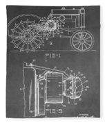 Tractor Patent Fleece Blanket