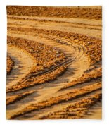 Tractor Tracks Fleece Blanket