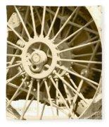Tractor Wheel Fleece Blanket