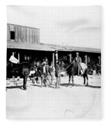 Trading Post, 1882 Fleece Blanket