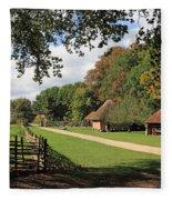 Traditional Countryside Britain Fleece Blanket