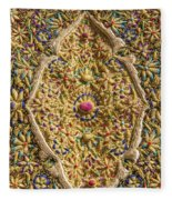 Traditional Embroidery In Jerusalem Israel Fleece Blanket