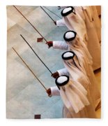 Traditional Emirati Men's Dance  Fleece Blanket