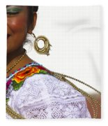 Traditional Ethnic Dancers In Chiapas Mexico Fleece Blanket