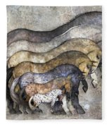 Traditional Horses Fleece Blanket