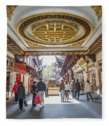 Traditional Shopping Area In Shanghai China Fleece Blanket
