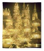 Trafalgar Square Christmas Lights Fleece Blanket