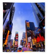 Traffic Cop In Times Square New York City Fleece Blanket