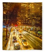 Traffic In A Big City Fleece Blanket