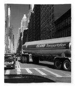 Traffic - New York In Perspective Series Fleece Blanket