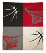 Trail Blazers Ball And Hoop Fleece Blanket
