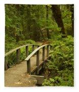 Trail Bridge Toketee 1 Fleece Blanket