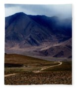 Trail Down From Muztagh Ata Fleece Blanket