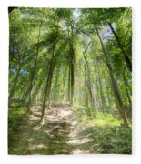 Trail In The Forest Fleece Blanket