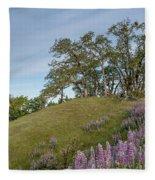 Trail Of Lupine Fleece Blanket
