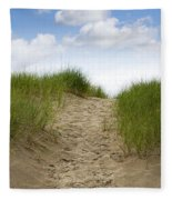 Trail Over The Dune To The Summer Beach Fleece Blanket