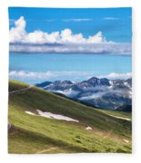 Trail Ridge Road In Rocky Mountain National Park Fleece Blanket