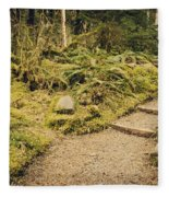 Trail Through The Moss Fleece Blanket