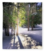 Trail To Bear Lake 4490 Fleece Blanket