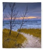 Trail To The Beach Fleece Blanket