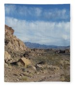 Trail To The Mountains Fleece Blanket