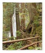 Trail To Waterfall Fleece Blanket
