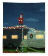 Trailer House Christmas Fleece Blanket