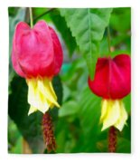Trailing Abutilon Or Lantern  Flower Fleece Blanket