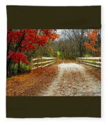 Trailing In Autumn Fleece Blanket