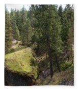 Trails In Spokane Fleece Blanket