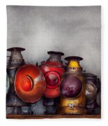 Train - A Collection Of Rail Road Lanterns  Fleece Blanket