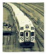 Train Approaching Fleece Blanket