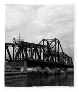 Train Bridge Fleece Blanket