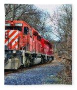 Train - Canadian Pacific Engine 5937 Fleece Blanket