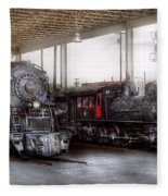 Train - Engine - 1218 - End Of The Line  Fleece Blanket