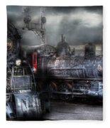 Train - Engine - 1218 - Waiting For Departure Fleece Blanket