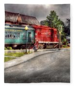 Train - Engine - Black River Western Fleece Blanket