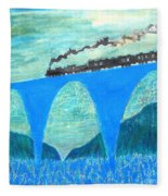 Train For A New World By Taikan Fleece Blanket